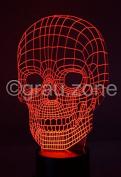 Originelle 3D LED-Lampe Totenkopf
