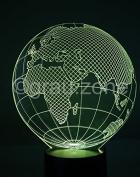 Originelle 3D LED-Lampe Weltkugel