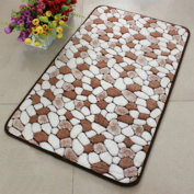 ZXYU Polyester Fibre Foot Pad Rectangular Indoor Multi-colour,Brown-50*80cm