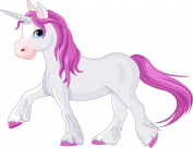 Wall Sticker for Child's Bedroom Unicorn Pink Wall Sticker Baby Wall Decal Sticker