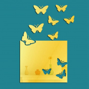 ZXYU Square Butterfly Living Room Creative Mirror Wall Stickers Acrylic 3d 3d Home Background Wall Decoration,1