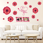 ZXYU 3D Flower Frame Decoration Wall Stickers Living Room Bedroom Wedding Room Stickers Pvc Can Be Removed