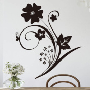 ZXYU Black Flower Living Room Bedroom Warm Wedding Background Wall Stickers