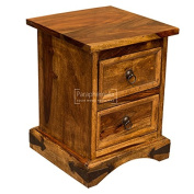 Jali solid sheesham mini chest of drawers / bedside