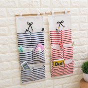 UCTOP STORE 6 Pockets Wall Door Closet Hanging Storage bag organiser Cotton Fabric