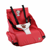 Lightweight portable highchair attaches to any chair - Highchair with pockets - Practical highchair adapts to the back and seat of any chair safely and quickly - Children's highchair folds into a handy carrying case to make it easy for you to carry - B ..
