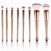 Diolee Premium Makeup Brush Set Synthetic Kabuki, With Perfect Mermaid, Top 8 Quality, Professional Makeup Brushes in Kit