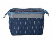 Bigood Multipurpose Cosmetic Makeup Bag Toiletry Organiser Pouch Navy Blue