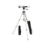 Walimex Pro 650-1300/8-16 Lens for DSLR Sony A Camera with WT-3570 Tripod - Black/Champagner