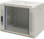'9 HE 19 inch – 19 Wall Cabinet with Glass Door (WxDxH) 600x450x500 mm – NEW. 19Power GmbH