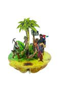 Santoro Pirouettes 3D Pop up Card, Treasure Island