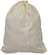 SimpleHouseware Extra Large 100% Cotton Laundry Bag, Beige