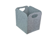 Foldable Laundry Basket / Hamper, MeeHome Storage Bag / Storage Bin Soft /Clothes Container / Storage Bin, Made of Polyester , Grey