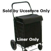 Shop-Tek Folding SHOPPING CART LINER with Cover,WATER PROOF (Liner Only) (Black) - Sold by Ucostore Only