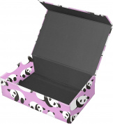 Snap-N-Store Magnetic Supply Box, 6.4cm x 14cm x 22cm , Pink Pandas