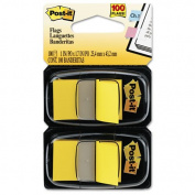 Post-it Flags - Standard Tape Flags in Dispenser, Yellow, 100 Flags/Dispenser 680-YW2 (DMi PK