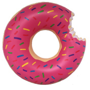 Donut Pool Float,120cm Inflatable Donut Adults for Relaxing or Swimming Pink Nose Clip and Earbuds as Gift
