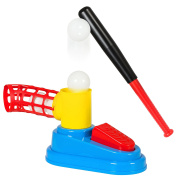 Best Choice Products Kids Toy Pop Up Baseball Batting Practise Set W/ Bat And Ball Loader
