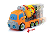ADI TOYS Take apart Car Cement Mixer Truck Toy With Power Drill and Screwdriver For Toddler