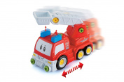 ADI TOYS Take apart Car Fire Truck Toy With Power Drill and Screwdriver For Toddler
