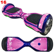 Pulison(TM) Protective Vinyl Skin Decal Cover for 17cm Self Balancing Scooter Hoverboard 2 Wheels Hoverboard Sticker