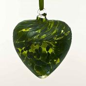 May Emerald 8cm Birthstone Glass Heart