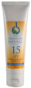 Zinc Oxide Natural Mineral Sunshield - SPF15 (100ml) - Caribbean Blue Sunscreen (UVA & UVB protection) *New