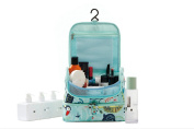 P.travel Cosmetic Bag Portable Toiletry Bag Hanging MakeUp Organiser Double Layer Multiple Compartments Waterproof