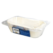 Kingfisher Loaf Cake Cases, White, Large, Pack of 15
