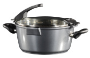 Stoneline Future Cooking Pot 28 cm with Glass Sieve Lid Suitable for Induction Cookers