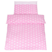 Chic Polka Dot 2-Piece Baby Bed Linen - Organic Cotton - Duvet Cover/Pillowcase