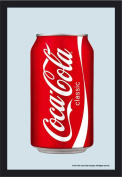 Empire Coca Cola Tin 537379 Printed Mirror with Plastic Frame with Wood Effect Iconic Mirror 20 x 30 CM