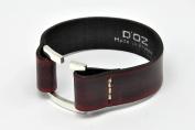 Leather Bracelet for Men – Maroon – Size L – Oz For Men