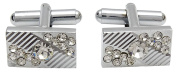Banithani Silver Tone Cufflinks Party Wedding Jewellery Gift Shirt Tie Clip Set