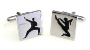 gemelolandia – Martial Arts Cufflinks Square, Black and Gold