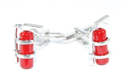 gemelolandia – Cufflinks Fireman, Silver and Red