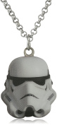 Star Wars Jewellery Stormtrooper Stainless Steel Cut Out Pendant Necklace, 46cm