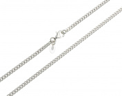 Kid's Children's Necklace, Curb Chain – 2.7 mm width wide Length 32 – 37 cm 925 Silver