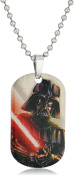 Star Wars Jewellery Unisex Darth Vader Graphic Dog Tag Kid's Pendant Necklace, 46cm