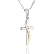 fish boys, girls silver necklace 925 sterling silver cross pendant gilded