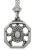 Handmade Magical Egyptian Scarab Pewter Pendant ~ Protective ~ 18+10cm extender Chain