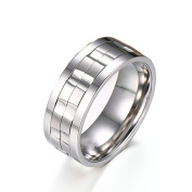 Onefeart Men Stainless Steel Ring For Women,IP Gold Plating Spinner Ring 9MM Size L 1/2-Z 1/2 Silver/Gold
