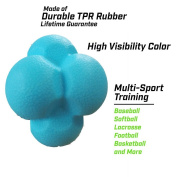 TOPtoper Reaction Ball Quickness and Agility Training Ball Hexagonal Ball Great for Training Hand-Eye Coordination and Response Capability 2 Pack