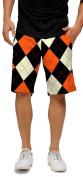 Loudmouth Golf Mens Shorts - Orange & Black - Size 36