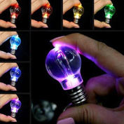 Sikye Creative Key Chain Mini Keychain Toy with Changing LED Lamp Bulb 7 Colour