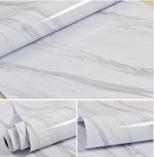 Grey Marble Contact Paper Self Adhesive Film Vinyl Granite Shelf Liner for Covering Counter Top Kitchen Cabinet Backsplash