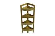 80cm 4 Tier Bamboo Corner Storage Shelf By Trademark Innovations