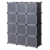 12 Cube Closet Organiser, Garage Storage Racks Sets, Shelf Cabinet, Panels and Units for Books, Plants, Toys, Shoes, Clothes, for Bedroom & Living Room