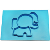 EllieMat by EllieTek Baby Silicone Mini Suction Placemat plate