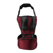 crownroyaljack Multi-functional Front Back Baby Carrier Baby Holder Waist Seat with Thicker Shoulder Straps & Breathable Mesh,Red